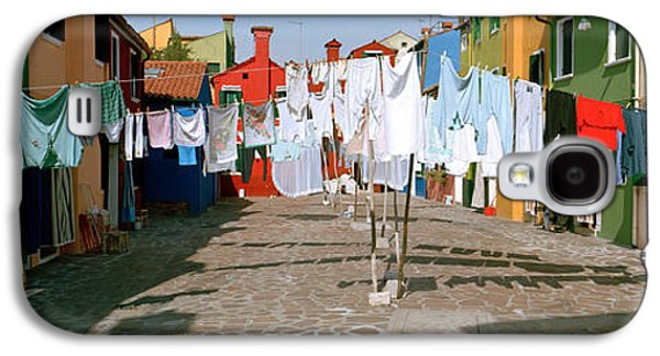 Clothesline In A Street, Burano Galaxy S4 Case by Panoramic Images