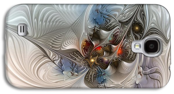 Cloud Cuckoo Land-fractal Art Galaxy S4 Case by Karin Kuhlmann