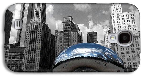 Cloud Gate B-w Chicago Galaxy S4 Case