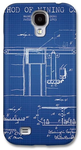 Coal Mining Patent From 1903- Blueprint Galaxy S4 Case by Aged Pixel