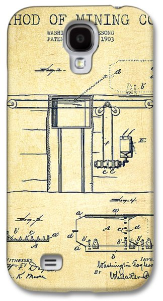 Coal Mining Patent From 1903- Vintage Galaxy S4 Case