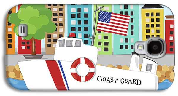 Coast Guard Galaxy S4 Case by Kathy Middlebrook