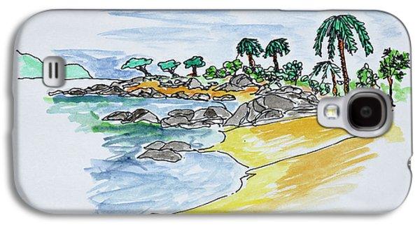 Coastline Along Isolella Beach Galaxy S4 Case