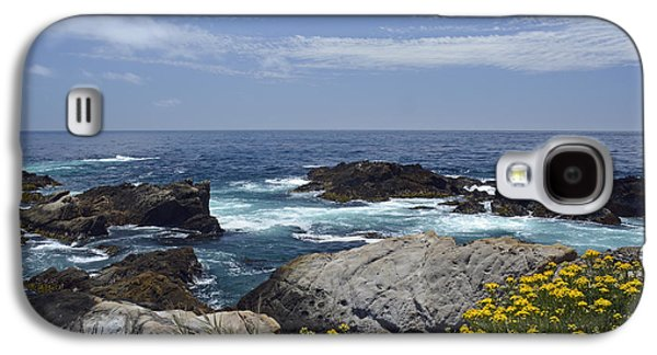 Coastline And Flowers In California's Point Lobos State Natural Reserve Galaxy S4 Case