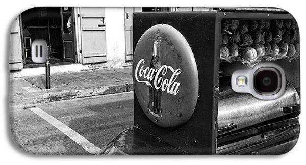 Coca Cola On Bourbon Street Mono Galaxy S4 Case by John Rizzuto