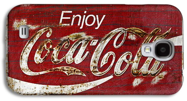 Coca Cola Red Grunge Sign Galaxy S4 Case by John Stephens