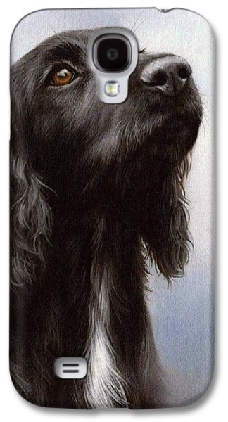 Cocker Spaniel Painting Galaxy S4 Case by Rachel Stribbling