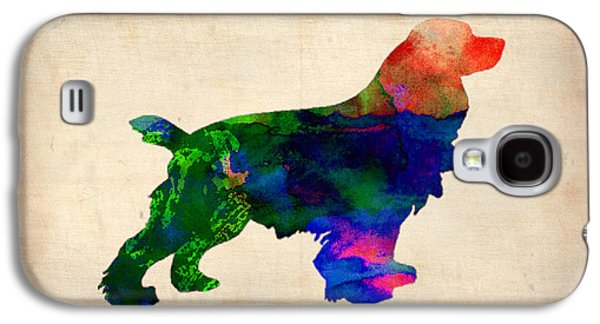 Cocker Spaniel Watercolor Galaxy S4 Case by Naxart Studio
