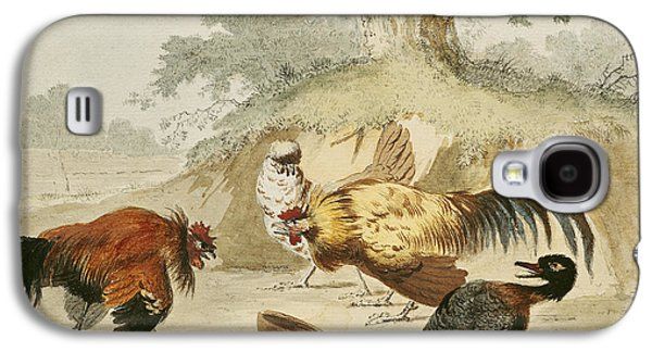 Cocks Fighting Galaxy S4 Case by Melchior de Hondecoeter