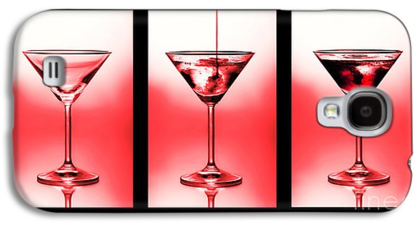 Cocktail Triptych In Red Galaxy S4 Case by Jane Rix