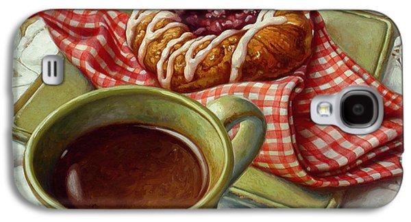 Coffee And Danish Galaxy S4 Case by Mia Tavonatti
