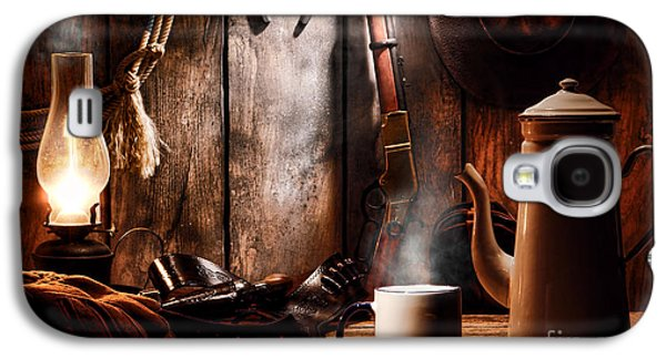 Coffee At The Cabin Galaxy S4 Case by Olivier Le Queinec
