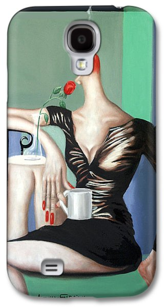 Coffee Drinking Galaxy S4 Cases - Coffee Break Galaxy S4 Case by Anthony Falbo