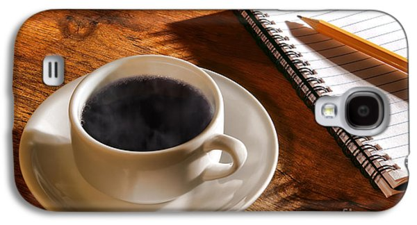 Coffee For The Writer Galaxy S4 Case by Olivier Le Queinec