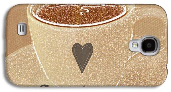 Coffee Love In Mocha Galaxy S4 Case by Linda Woods
