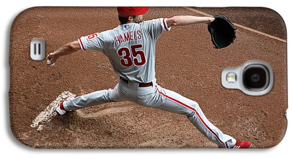 Cole Hamels - Pregame Warmup Galaxy S4 Case by Stephen Stookey