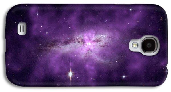 Colliding Spiral Galaxies Galaxy S4 Case