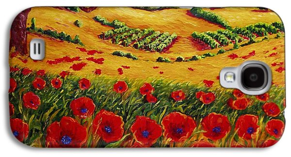 Color In The Vineyards Galaxy S4 Case by Lisa V Maus