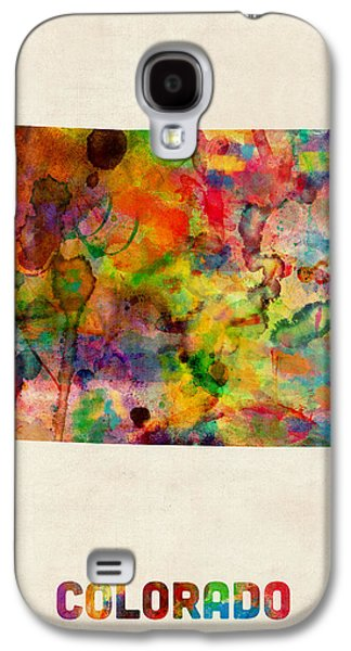 Colorado Watercolor Map Galaxy S4 Case by Michael Tompsett