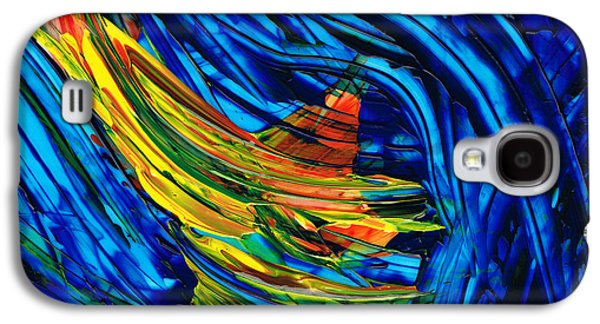 Colorful Abstract Art - Energy Flow 3 - By Sharon Cummings Galaxy S4 Case by Sharon Cummings