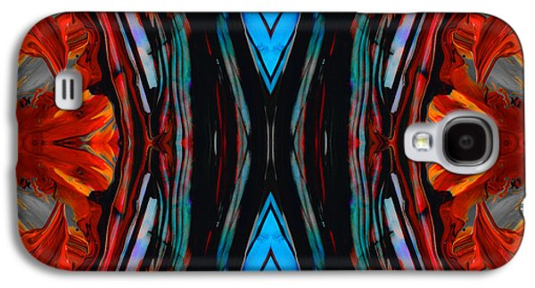 Colorful Abstract Art - Expanding Energy - By Sharon Cummings Galaxy S4 Case by Sharon Cummings