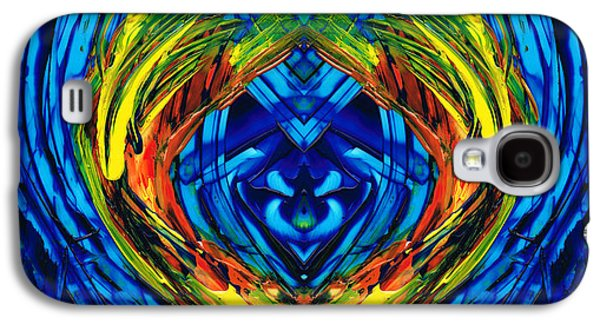 Colorful Abstract Art - Purrfection - By Sharon Cummings Galaxy S4 Case by Sharon Cummings