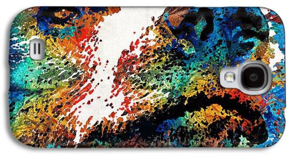 Colorful Bear Art - Bear Stare - By Sharon Cummings Galaxy S4 Case by Sharon Cummings