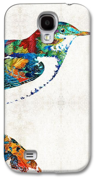 Colorful Bird Art - Sweet Song - By Sharon Cummings Galaxy S4 Case by Sharon Cummings