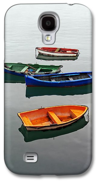 colorful boats on Santurtzi Galaxy S4 Case