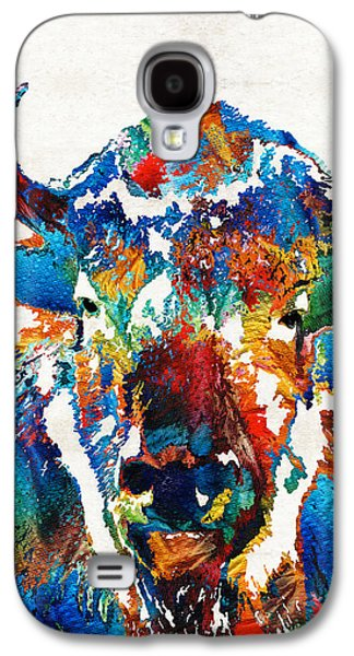 Colorful Buffalo Art - Sacred - By Sharon Cummings Galaxy S4 Case by Sharon Cummings