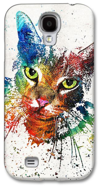 Colorful Cat Art By Sharon Cummings Galaxy S4 Case