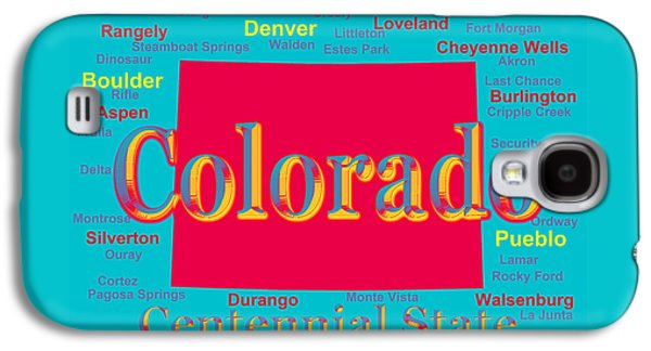 Colorful Colorado State Pride Map Silhouette  Galaxy S4 Case by Keith Webber Jr