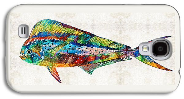 Colorful Dolphin Fish By Sharon Cummings Galaxy S4 Case by Sharon Cummings