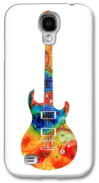 Colorful Electric Guitar 2 - Abstract Art By Sharon Cummings Galaxy S4 Case