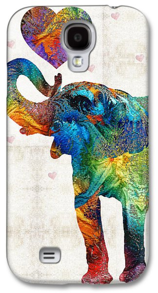 Colorful Elephant Art - Elovephant - By Sharon Cummings Galaxy S4 Case by Sharon Cummings