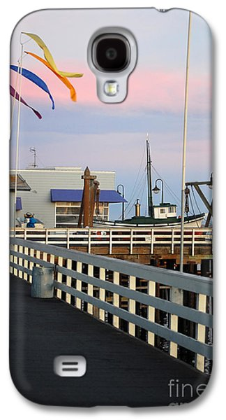 Colorful Flags And Wharf Galaxy S4 Case by Debra Thompson