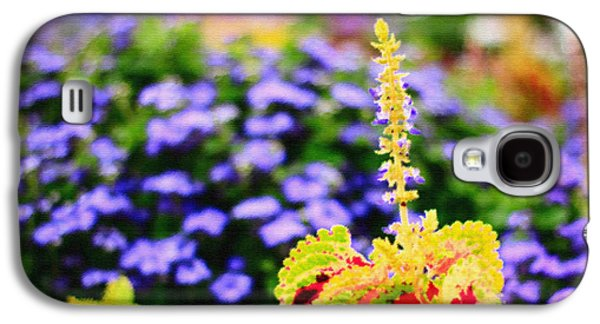 Colorful Garden Scene Galaxy S4 Case by Beverly Claire Kaiya