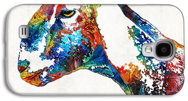 Colorful Goat Art By Sharon Cummings Galaxy S4 Case by Sharon Cummings
