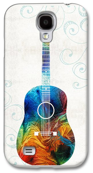 Colorful Guitar Art By Sharon Cummings Galaxy S4 Case by Sharon Cummings