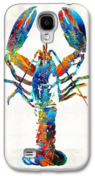 Colorful Lobster Art By Sharon Cummings Galaxy S4 Case by Sharon Cummings