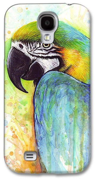 Macaw Painting Galaxy S4 Case by Olga Shvartsur