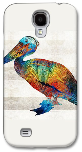 Colorful Pelican Art By Sharon Cummings Galaxy S4 Case by Sharon Cummings