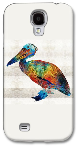 Colorful Pelican Art By Sharon Cummings Galaxy S4 Case