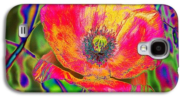Colorful Poppy Galaxy S4 Case by Carol Lynch