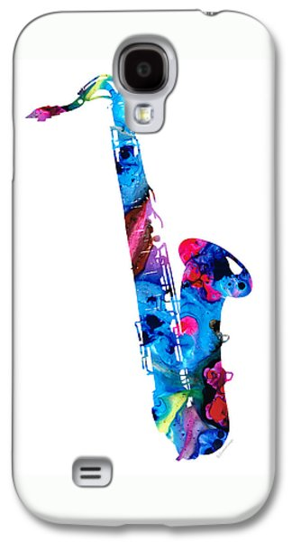 Saxophone Galaxy S4 Case - Colorful Saxophone 2 By Sharon Cummings by Sharon Cummings