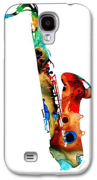 Colorful Saxophone By Sharon Cummings Galaxy S4 Case by Sharon Cummings