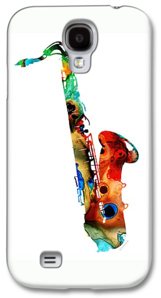 Rock And Roll Galaxy S4 Case - Colorful Saxophone By Sharon Cummings by Sharon Cummings