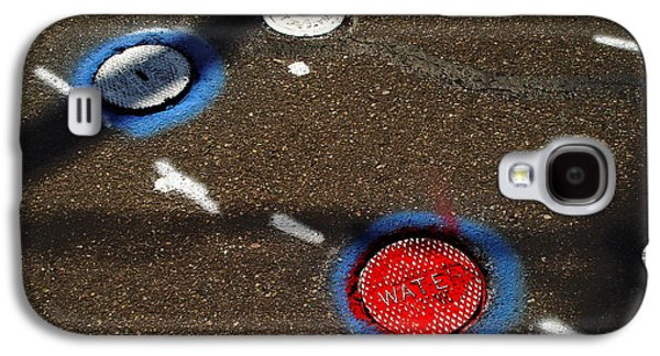 Colorful Storm Drain Covers And White Galaxy S4 Case by Panoramic Images