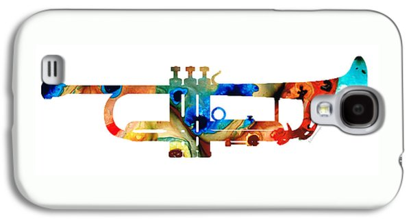 Colorful Trumpet Art By Sharon Cummings Galaxy S4 Case