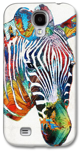 Colorful Zebra Face By Sharon Cummings Galaxy S4 Case
